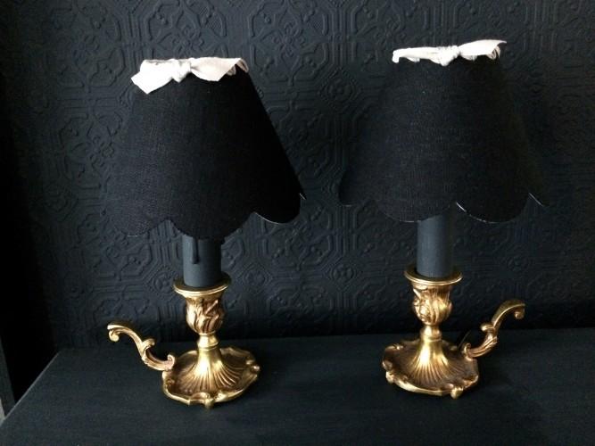 Paire de lampes rats de cave esprit baroque