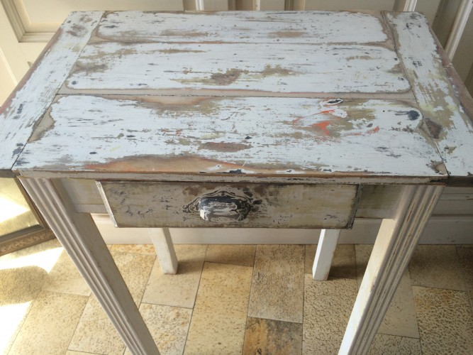 Table patine shabby