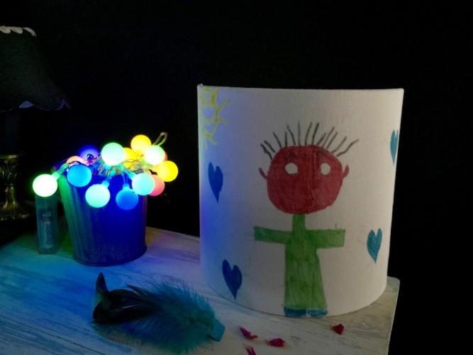 Abat jour dessin d'enfant