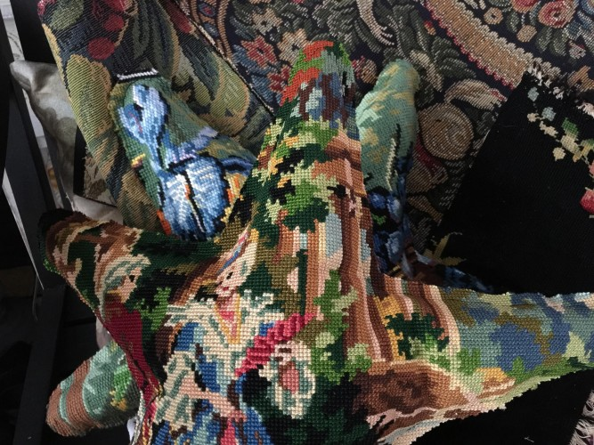 Etoile en tapisserie ancienne