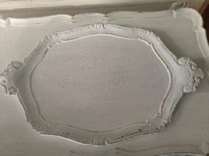 Plateau florentin patine blanche