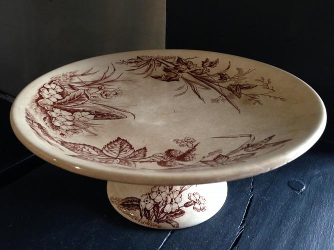 Compotier ancien motif floral